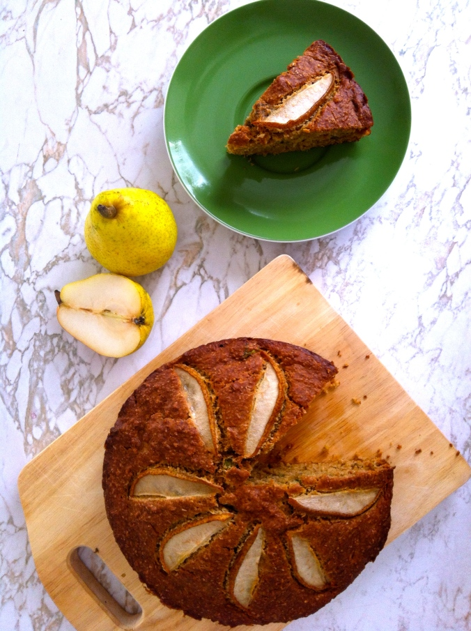 Basil and Pear Cake