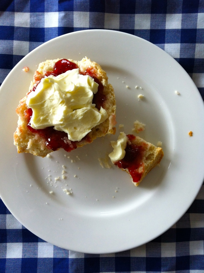 Serve with jam and cream