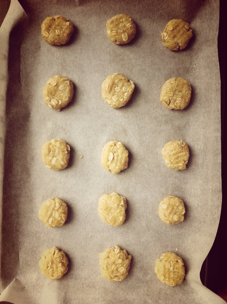 Anzacs flattened with a fork