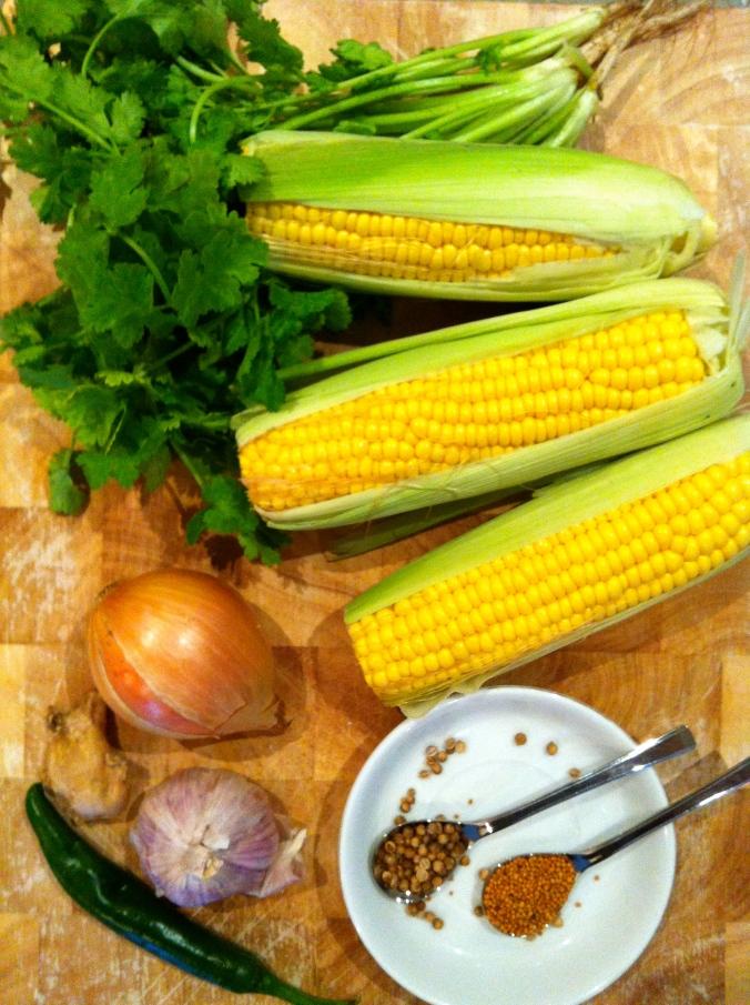 Sweet Corn Daal Ingredients