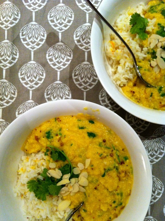 Sweet Corn Daal and Rice