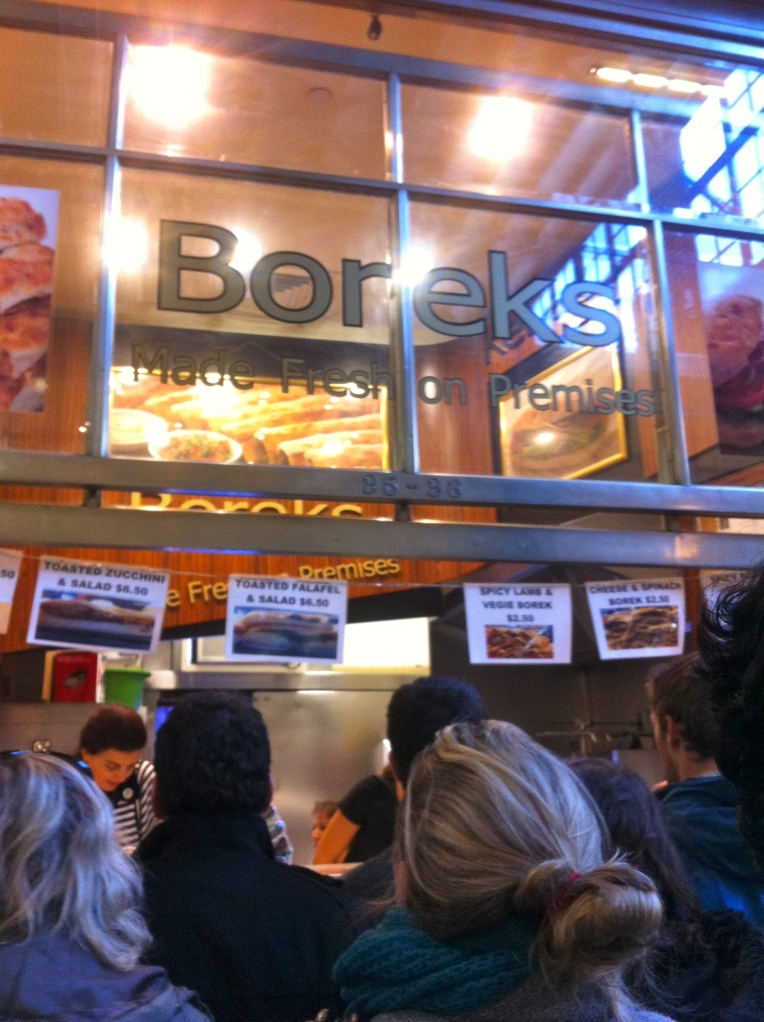 Borek stall at The Victoria Market